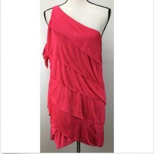 BCBGMAXAZRIA Women's Dress S Small One Shoulder